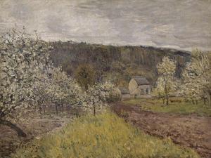Printemps pluvieux aux environs de Paris by Alfred Sisley