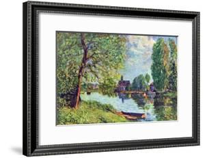 River Landscape at Moret-Sur-Loing by Alfred Sisley