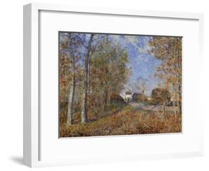 Road at the Forest Fringe (Forest of Fontainebleau Near Moret-Su-Loing), 1883 by Alfred Sisley