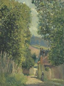 Rue à Louveciennes by Alfred Sisley