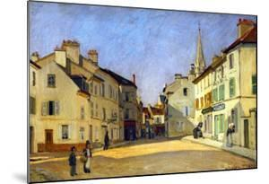 Rue De La Chaussee in Argenteuil, 1872 by Alfred Sisley