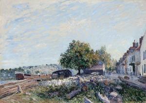 Saint Mammès-Morning, 1884 by Alfred Sisley