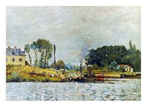 Sisley: Boats, 1873 by Alfred Sisley