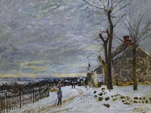 Snow in Veneux-Nadon, Around 1880 by Alfred Sisley