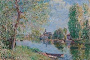 Spring in Moret-sur-Loing; Le printemps a Moret sur Loing, 1891 by Alfred Sisley