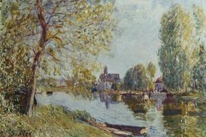 Spring in Moret-Sur-Loing by Alfred Sisley