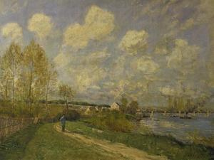 Summer at Bougival, 1876 by Alfred Sisley