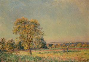Summer Landscape with Large Tree, 1886 by Alfred Sisley