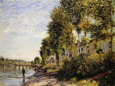 Sunny Morning at Saint Mammes by Alfred Sisley