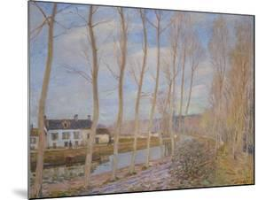 The Canal at Loing, 1892 by Alfred Sisley