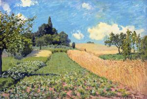 The Cornfield (Near Argenteuil) by Alfred Sisley