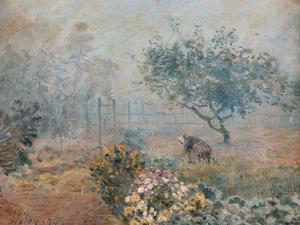 The Fog, Voisins by Alfred Sisley