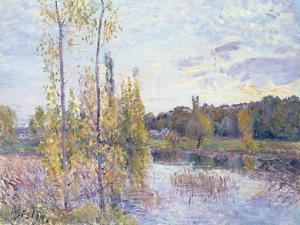 The Lake at Chevreuil by Alfred Sisley