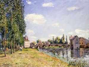 The Moret Bridge in the Summer, 1888 by Alfred Sisley