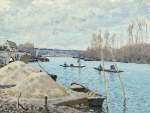 The Seine at Port-Marly, Piles of Sand, 1875 by Alfred Sisley