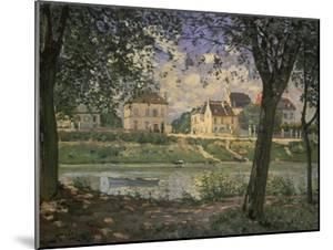 The Small Town of Villeneuve-La-Garenne at the Seine River, 1872 by Alfred Sisley