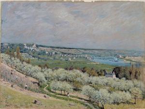 The Terrace at Saint-Germain, Spring, 1875 by Alfred Sisley