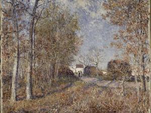 Un coin de bois aux Sablons, dit la route à l'orée du bois (lisière de forêt de Fontainebleau, by Alfred Sisley