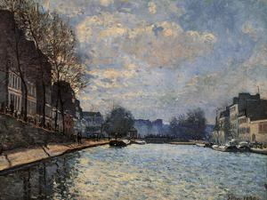 View of the Canal Saint Martin by Alfred Sisley