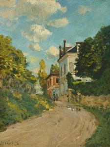 View of the Rue De Moubuisson, Louveciennes, 1874 by Alfred Sisley