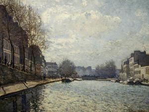 View of the Saint-Martin Canal by Alfred Sisley