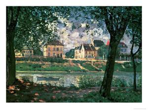 Village by the Seine (Villeneuve-La-Garenne) by Alfred Sisley