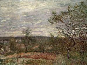 Windy Day at Veneux, 1882 by Alfred Sisley