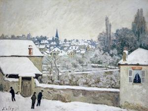 Winter in Louveciennes by Alfred Sisley