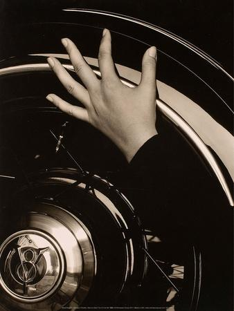 Georgia O'Keeffe, Hand on Back Tire of Ford V8, 1933
