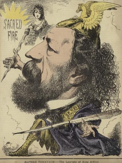 Alfred Tennyson - the Laureate of King Arthur--Giclee Print
