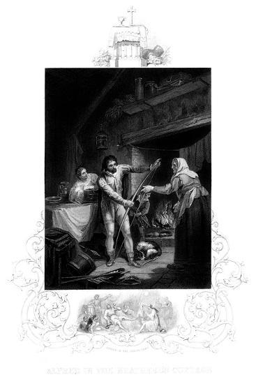 Alfred the Great in the Neatherd's Cottage, 9th Century Ad-J Rogers-Giclee Print