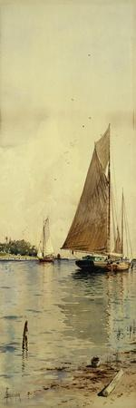 Drying the Sails, Oyster Boats, Patchogue, Long Island
