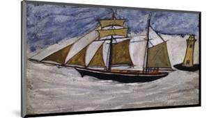 Boat and Lighthouse by Alfred Wallis