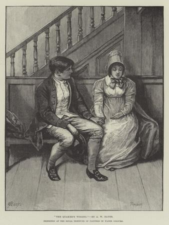 The Quaker's Wooing, Exhibited at the Royal Institute of Painters in Water Colours