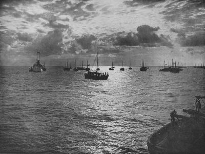 'Sunset on the Pearling Banks, Marrichikaddi', c1890, (1910)