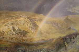 A November Rainbow, Dolwyddelan Valley, November 11 1866, 1 P.M. 1866, 1866 by Alfred William Hunt