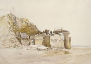 Mont St Michel: the Outer Gate, C. 1876 by Alfred William Hunt