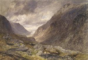 Pass of Llanberis, C.1853 by Alfred William Hunt