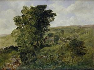 View of Nantlle, Caernarvonshire, 1855 by Alfred William Hunt