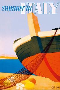 Summer in Italy - Bow of a Italian Fishing boat by Alfredo Lalia