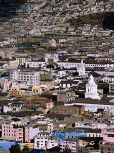 Aerial View of the Old Quarter, Quito, Ecuador by Alfredo Maiquez