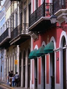 Building Facades in the Old Quarter of San Juan, San Juan, Puerto Rico by Alfredo Maiquez