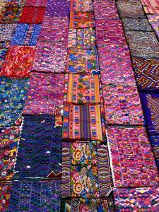 Display of Textiles, Antigua Guatemala, Guatemala by Alfredo Maiquez