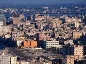 High Angle View Over City's Old Quarter, Havana, Cuba by Alfredo Maiquez