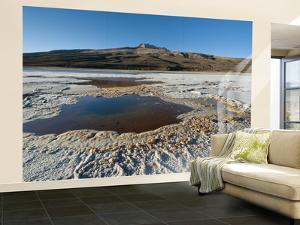 Salt Lakes around Tunupa Volcano by Alfredo Maiquez