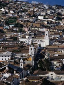 View Over the Old Quarter of Quito, Quito, Pichincha, Ecuador by Alfredo Maiquez