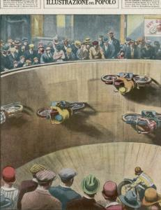 """On This London """"Wall of Death"""" the Riders are Travelling Parallel to the Ground by Alfredo Ortelli"""