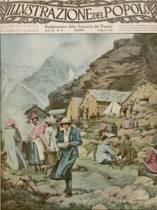 Summer Camp for Women Members of the Italian Alpine Club High in the Mountains by Alfredo Ortelli