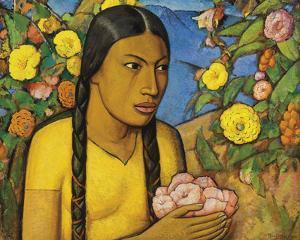 Juanita Entre Las Flores by Alfredo Ramos Martinez