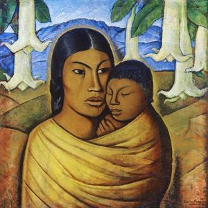 Madre Con Ibida by Alfredo Ramos Martinez